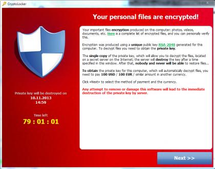 最下流的恶意软件——CryptoLocker